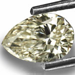 0.72-Carat SI1-M Pear-Shaped Diamond from South Africa