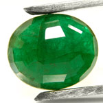 20.60-Carat Oval-Cut Forest Green Zambian Emerald (Untreated)