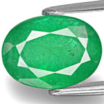 4.15-Carat Medium Green Oval-Cut Emerald from Zimbabwe