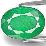 4.15-Carat Medium Green Oval-Cut Emerald from Zimbabwe