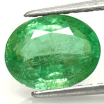 2.62-Carat Vivid Green Oval-Cut Emerald from Zambia