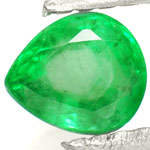 0.50-Carat Pear Shaped Neon Green Emerald from Zambia