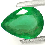 0.70-Carat Velvet Green Pear-Shaped Zambian Emerald