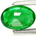 0.78-Carat Lovely Leaf-Green Emerald from Zambia