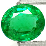 0.62-Carat Attractive Dark Green Emerald from Zambia