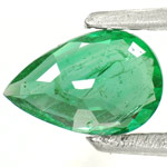 0.58-Carat Intense Green Pear-Shaped Emerald from Zambia