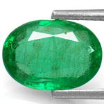 2.13-Carat Lustrous Dark Green Zambian Emerald (Untreated)