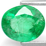 2.07-Carat Natural Oval-Cut Emerald from Zambia (Untreated)