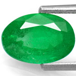 1.32-Carat Natural & Untreated Oval-Cut Emerald from Zambia