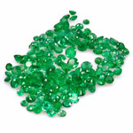 57.97-Carat Assorted Lot of Round 3mm to 6.50mm Zambian Emeralds