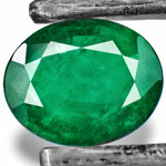 4.95-Carat Dark Green Oval-Cut Emerald from Zambia