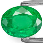 1.36-Carat Lively Eye-Clean Royal Green Emerald from Brazil