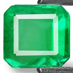 0.61-Carat Lustrous Vivid Green Emerald from Colombia