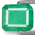 0.96-Carat Intense Green Emerald from Zambia (Untreated)