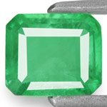 0.65-Carat Natural & Untreated Intense Green Emerald