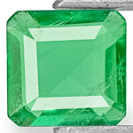 0.56-Carat Natural Intense Green Emerald from Zambia