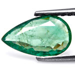 1.28-Carat Lustrous Pear-Shaped Zambian Emerald (Untreated)