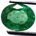 1.24-Carat Grass Green Emerald from Zambia (Untreated)