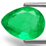 2.07-Carat High-Clarity Pear Shaped Colombian Emerald