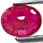 0.93-Carat Unheated Magenta Red Ruby from Burma