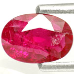0.84-Carat Unheated Purplish Red Ruby from Mozambique (AIGS)