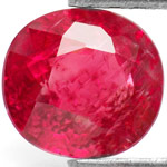 1.06-Carat Unique Vivid Orangy Red Ruby from Burma (Unheated)