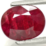 2.49-Carat Unheated Pigeon Blood Red Ruby from Winza