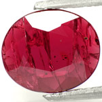 2.38-Carat Flat-Cut Unheated Ruby from Niassa Mines (Mozambique)