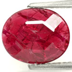 2.26-Carat Shallow-Cut Magenta Red Ruby (Natural & Unheated)
