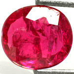 1.20-Carat Unheated Pinkish Red Flat-Cut Ruby (AIGS-Certified)
