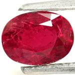 1.37-Carat Wonderful Unheated Intense Red Ruby from Mozambique