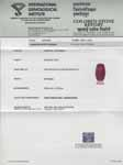 0.74-Carat IGI-Certified Unheated Intense Red Ruby from Niassa
