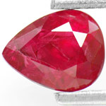 0.96-Carat Pear-Shaped Blood Red Unheated Burma Ruby (IGI)