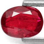 1.15-Carat Intense Red Oval-Cut Ruby (Natural & Unheated)