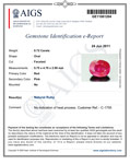 0.72-Carat Deep Pinkish Red Unheated Ruby from Burma