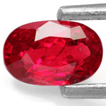 0.57-Carat Lustrous Maroonish Red Ruby from Mozambique