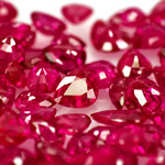23.93-Carat Lot of High-Clarity Unheated Pear-Shaped Rubies