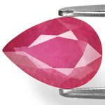 2.30-Carat Deep Pinkish Red Pear-Shaped Ruby from Tanzania