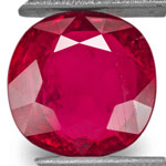 3.05-Carat Unheated Blood Red Ruby from Niassa, Mozambique