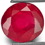 1.97-Carat Unheated Deep Red Ruby from Tanzania