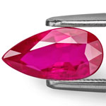 2.04-Carat VVS Deep Pinkish Red Unheated Pear-Shaped Ruby
