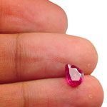 2.03-Carat Deep Pinkish Red Pear-Shaped Unheated Ruby