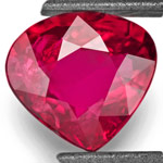 2.01-Carat Deep Purplish Red Unheated Heart-Shaped Ruby