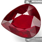 2.07-Carat Pear-Shaped Deep Pigeon Blood Red Unheated Ruby