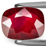 2.90-Carat Unheated Blood Red Cushion-Cut Mozambique Ruby