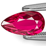 1.00-Carat VVS Deep Purplish Red Pear-Shaped Ruby (Unheated)