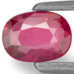 0.42-Carat Unheated Pinkish Red Ruby from Mozambique