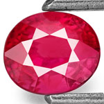 0.64-Carat Pinkish Orangish Red Ruby from Mozambique
