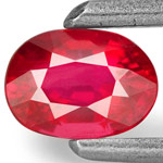 0.40-Carat Eye-Clean Bright Orangy Red Ruby from Mozambique