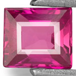 0.44-Carat Flawless Vivid Pinkish Red Unheated Rectangular Ruby